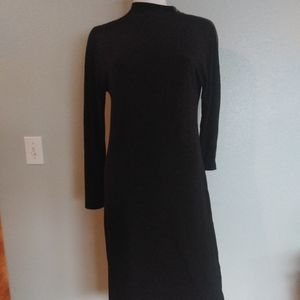 Donna Karan Dress L/S Knee Length Gold Zipper